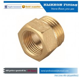 Metal brass nickel plated female thread pneumatic fitting