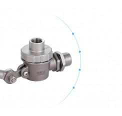 flange connection bronze float ball valve with handle
