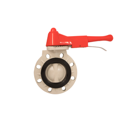 Single Axis Ductile Iron butterfly Valve without pin