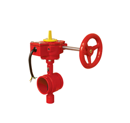 Worm-Gear Cast Iron Double Flanged butterfly Valve