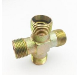 Hose Barb 4 Way Splitter Cross Brass Connector Coupling Adapter Fitting