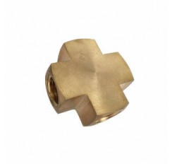 Cross brass fitting 3 way barbed Tee connector for Air Gas Water Fuel