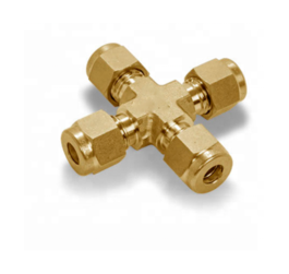 Carbon steel/brass steelstainless steel hydraulic cross fitting