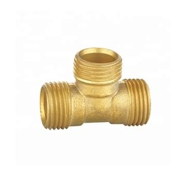 wholesale durable brass reducing tee fitting with pex pipe connect