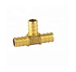 Zhejiang Plumbing Push fitting customizable size LeadFree Brass copper universal equal tee for water pipe fittings