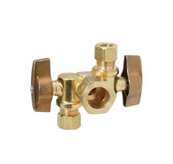 Hardware Brass TEE Pipe Fitting 1/8'' NPT Male Thread For Hose