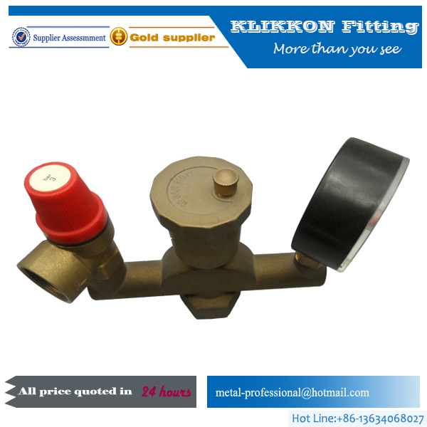 Air compressor safety relif valve