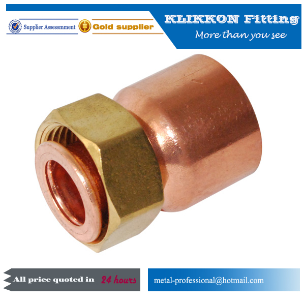 copper fittings with cap nut